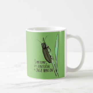 Sometimes It's Enough green mug
