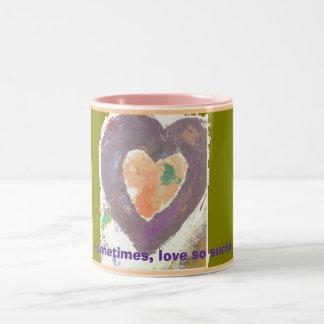 Sometimes, love so sucks Two-Tone mug