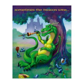 Sometimes the Dragon wins - Green Acrylic Print