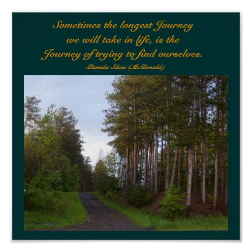 Sometimes the longest Journey...Quote Poster