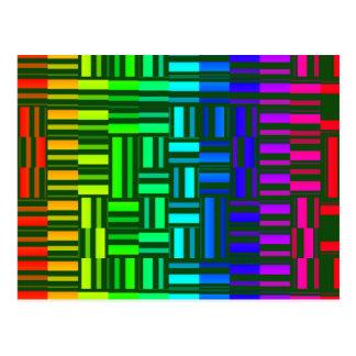 Somewhat Distorted Rainbow Postcard