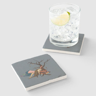 """""""Somewhat Portable Christmas Tree"""" Coasters"""