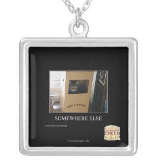 Somewhere Else Square Pendant Necklace