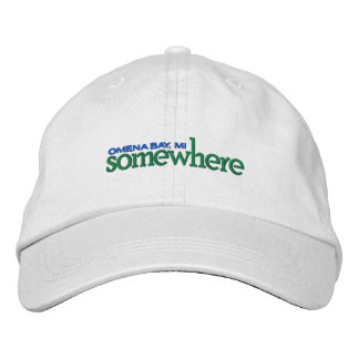 SOMEWHERE HAT - WHITE EMBROIDERED HATS