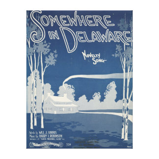 Somewhere In Delaware Canvas Canvas Print