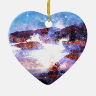 Somewhere on the Indian Ocean Ceramic Heart Decoration
