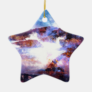 Somewhere on the Indian Ocean Ceramic Star Decoration