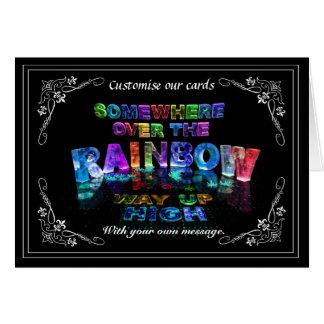 Somewhere Over the Rainbow Card