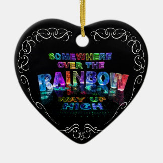 Somewhere Over the Rainbow Christmas Ornament