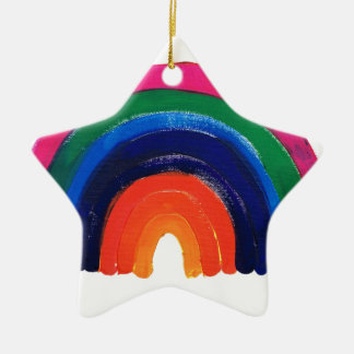 somewhere over the rainbow customise & personalise ceramic star decoration