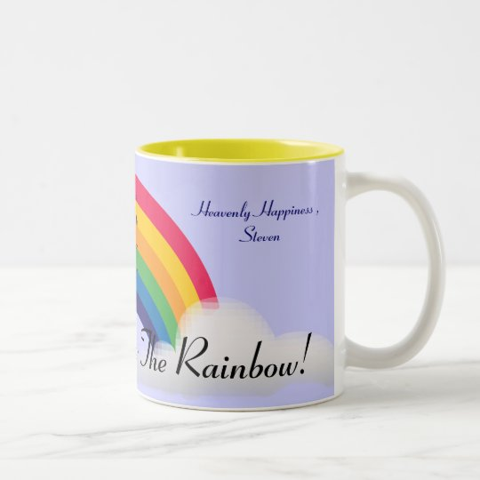Somewhere Over The Rainbow!-Customise Two-Tone Coffee Mug