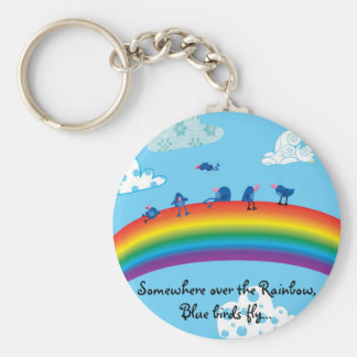 Somewhere over the rainbow key ring