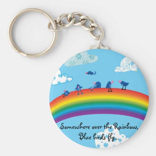 Somewhere over the rainbow keychains