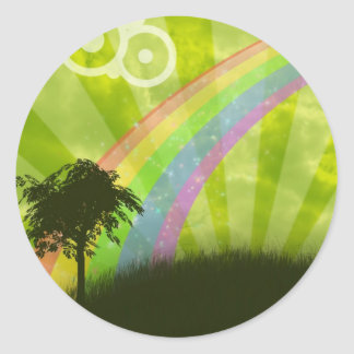 Somewhere Under the Rainbow Classic Round Sticker