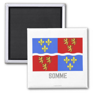 Somme flag with name square magnet