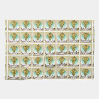 Sommelier Symbol Tea Towel
