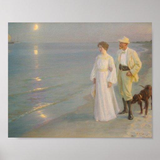 Sommeraften ved Skagens Strand Print