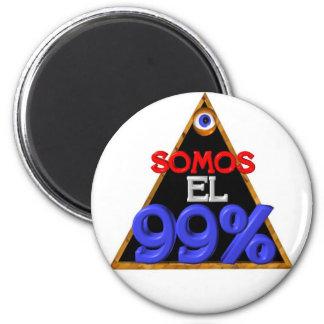 Somos el 99% Spanish We are 99 percent 6 Cm Round Magnet