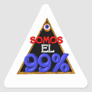 Somos el 99% Spanish We are 99 percent Triangle Sticker