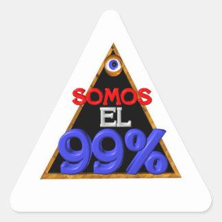 Somos el 99% Spanish We are 99 percent Triangle Sticker