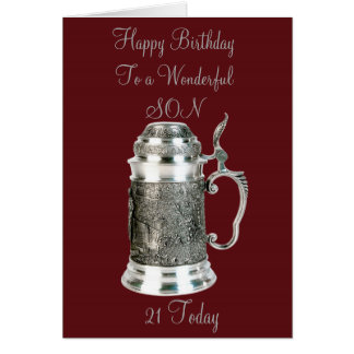 SON 21ST BIRTHDAY CARD