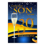 Son 30th Birthday Greeting Card  Special Son