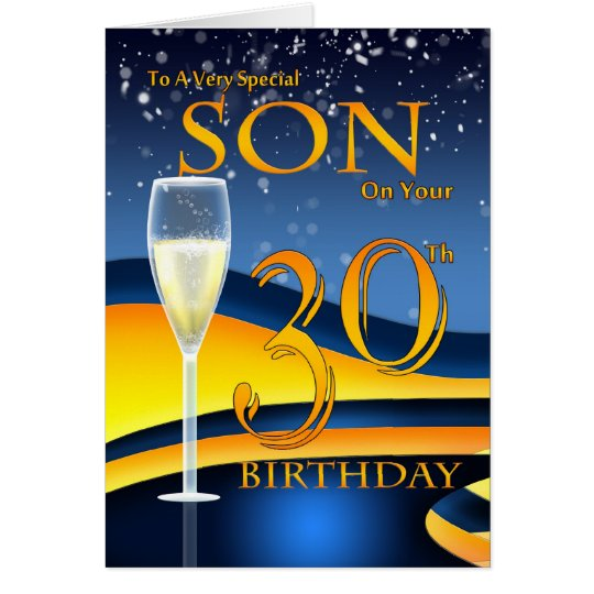 Son Th Birthday Cards Uk ~ Son th birthday greeting card special zazzle