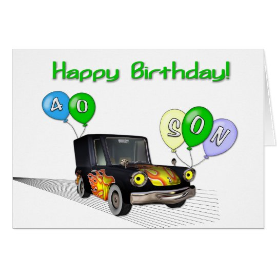 Son Th Birthday Cards Uk ~ Son th birthday card zazzle