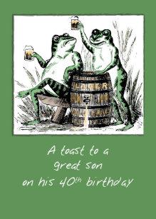 son 40th birthday cards zazzle uk