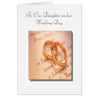 Son and Daughter's Wedding Day Card