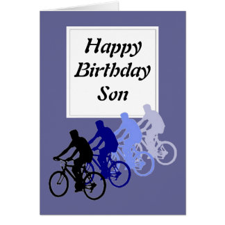 Son, Birthday, Bike, Cycle Funny From Parent Greeting Card