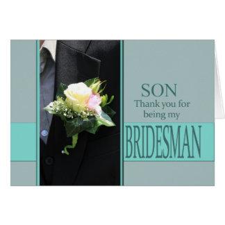 Son Bridesman thank you Card