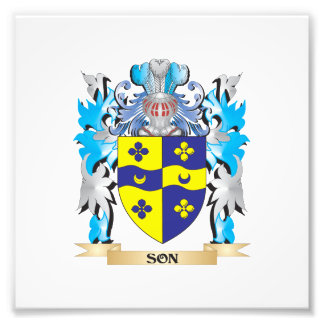 Son Coat of Arms - Family Crest Photo Print