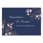 Son & Daughter In Law Wedding Congratulations Blue Greeting Card
