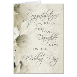Son Amp Daughter In Law Wedding Congratulations Card