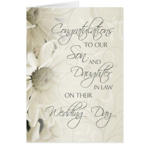 Son & Daughter In Law Wedding Congratulations Card