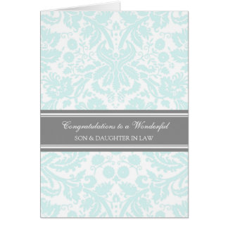 Son & Daughter In Law Wedding Congratulations Sky Card