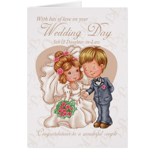 Son & Daughter-in-Law Wedding Day Card with love