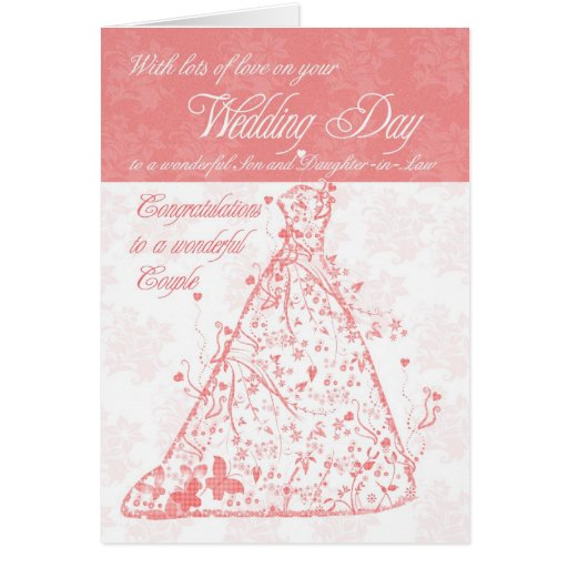Son & Daughter-in-Law wedding day congratulations Cards