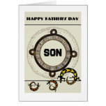 Son / Happy Father's Day - Mayan / lizards Greeting Card