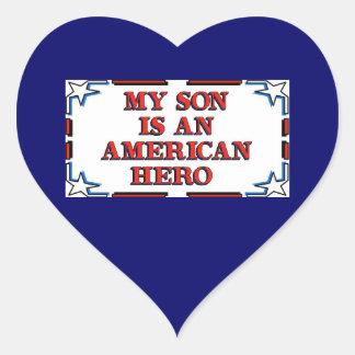 Son Hero Heart Sticker