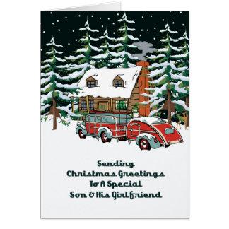 Son & His Girlfriend Christmas Greetings Card