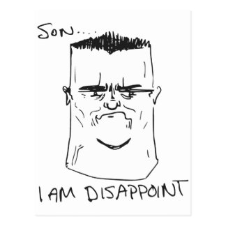 Son I Am Disappoint Father Rage Comic Meme Postcard