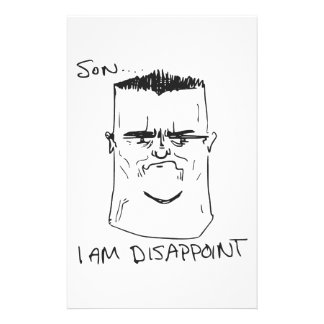 Son I Am Disappoint Father Rage Comic Meme Stationery