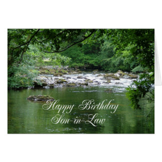 Son-in-law birthday card showing a river