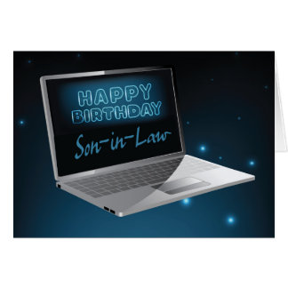 Son-in-Law Birthday Computer Card