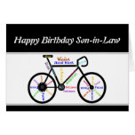 Son-in-Law Birthday Motivational Bike Bicycle Greeting Card