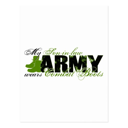Son-in-law Combat Boots - ARMY Postcard