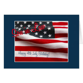 Son in law Happy 4th July birthday Cards