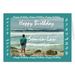 SON-IN-LAW - Happy Birthday - Man and Ocean Waves